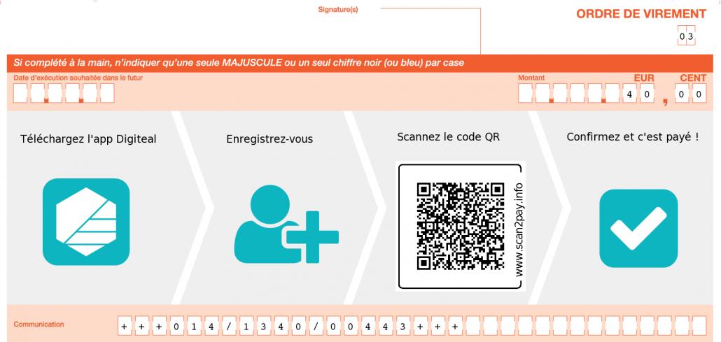 Recevoir des dons avec Digiteal - FRB Demoucelle avec Code QR