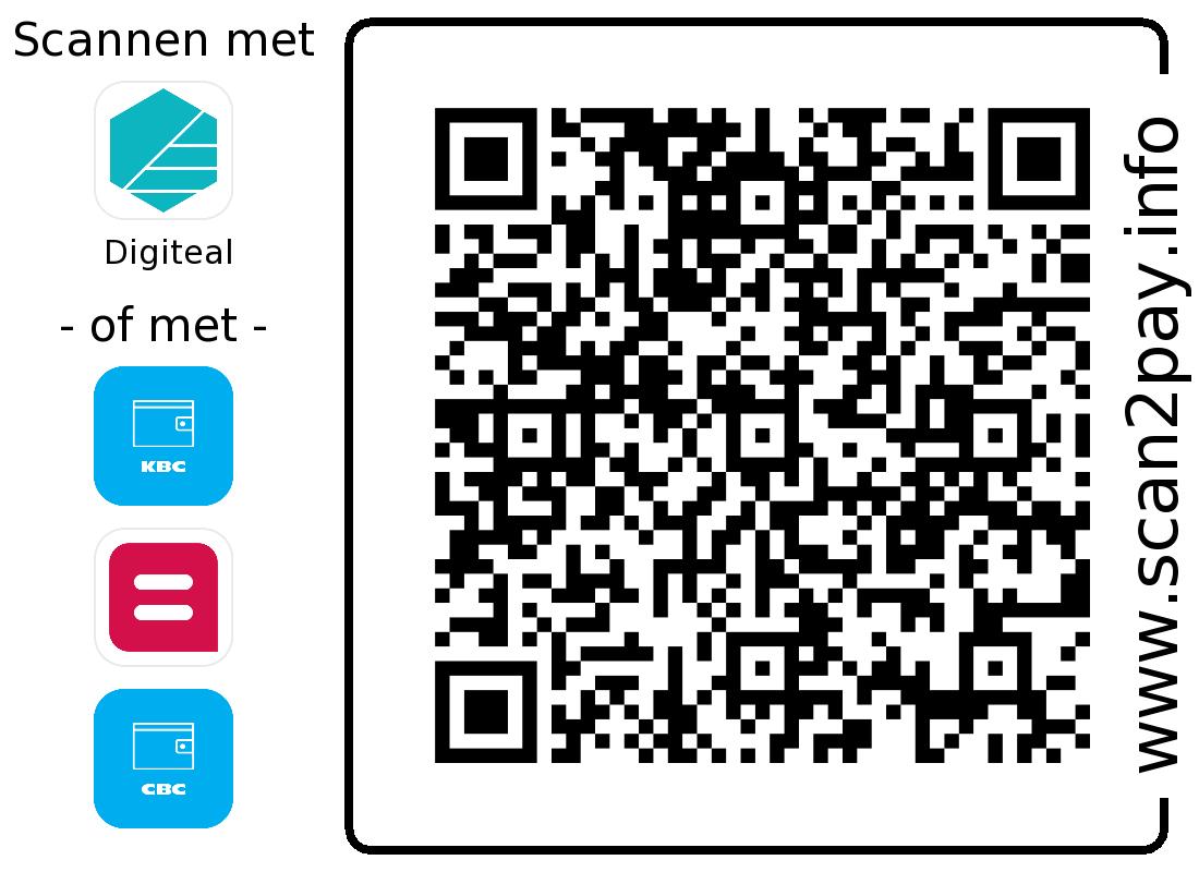 Ontvang donaties via Digiteal - QR-betalingscode