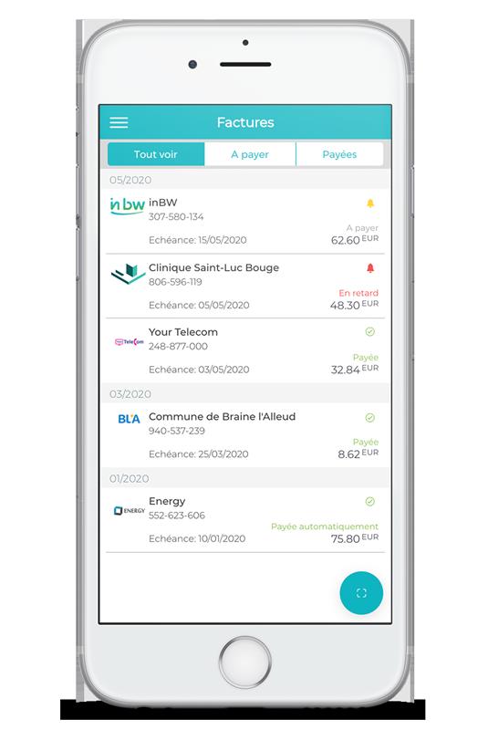 Payer les factures en toute sécurité avec Digiteal