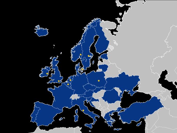 EU peppol access points map