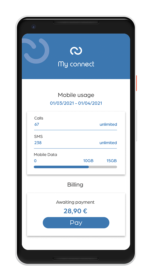 Digiteal pay button on mobile